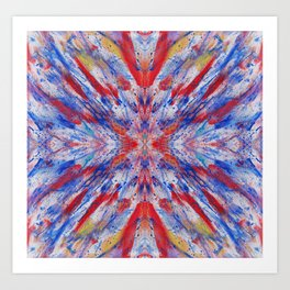 Abstraction Reaction - Abstract Painting - Bright Colorful Art Print