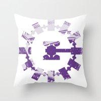 interstellar Throw Pillows featuring interstellar  by Osman SARGIN