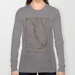 Vintage Map of Florida (1852) Long Sleeve T-shirt