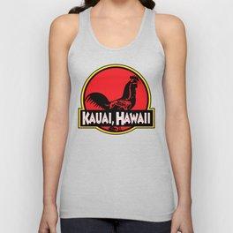 Kauai, Hawaii Jurassic Park Rooster Unisex Tank Top