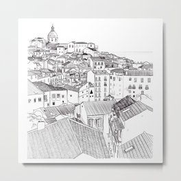 Lisbon Cityscape Metal Print