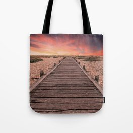 Sunset at Dungeness Tote Bag