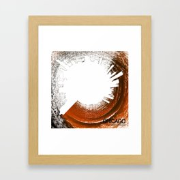 Planet Chicago - Abstract Framed Art Print