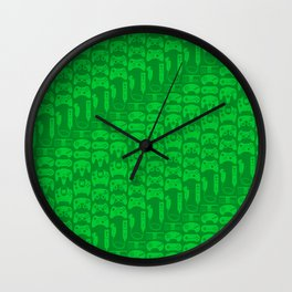 Video Game Controllers - Green Wall Clock