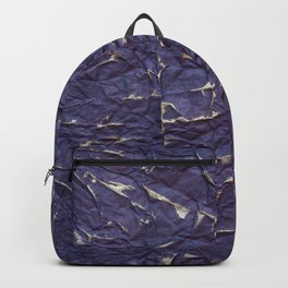 Antique shabby vintage purple creased paper Backpack