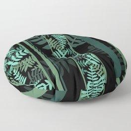 Fern design Geometric Stripes I Floor Pillow