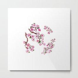 Sakura Branch Painting Metal Print