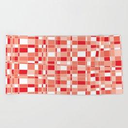 Mod Gingham - Red Beach Towel