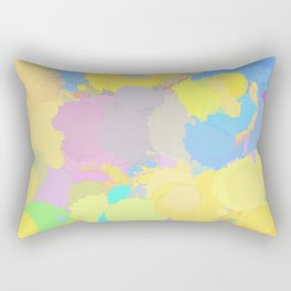 Colorful splatter, yellow-blue circles Rectangular Pillow