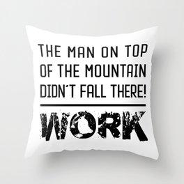 Work - Hustle Motivation for Entrepreneurs Fitness Trainer And Bodybuilder Throw Pillow