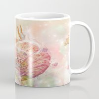 forever young Mugs featuring Forever Young by Lisa Argyropoulos
