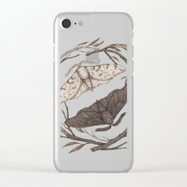 Peppered Moths Clear iPhone Case