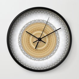 Gold white White and Silver Marble Wall Clock