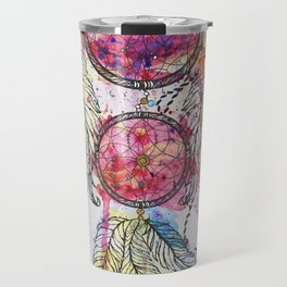 "Watercolor sketch Dreamcatcher ""Chase your Dreams"" quote Travel Mug"