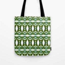 Palm Leaf Kaleidoscope (on white) #2 Tote Bag