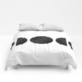 minimalist moon phases Comforters