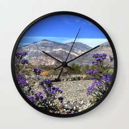 Panamint Wildflowers Wall Clock