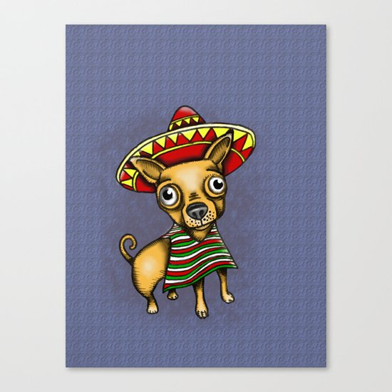 Mexican Chihuahua in Brown Canvas Print