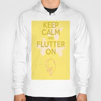 mlp Hoodies featuring Keep Calm and Flutter On (MLP FIM) by Michael Golding