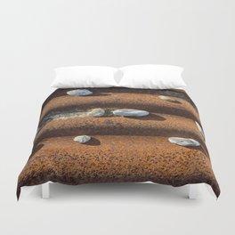 Pebbles on rust Duvet Cover