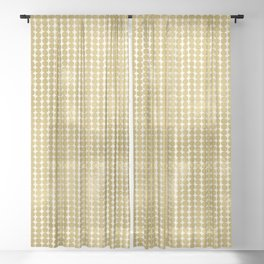 Midcentury Modern Dots in Gold Sheer Curtain