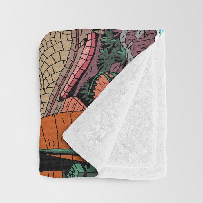 Capharnaüm City (Color) Throw Blanket