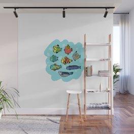Fish Portrait in Sea Wall Mural