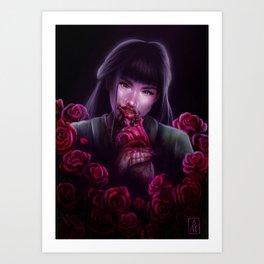 Dangerous as a Rose Art Print