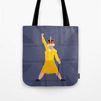 queen Tote Bags featuring QUEEN by Bakus