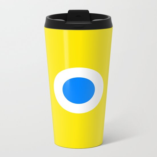 This is the Point, Yellow Pop Art Metal Travel Mug