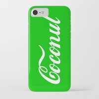 coconut wishes iPhone & iPod Cases featuring Coconut by Tshirtbaba