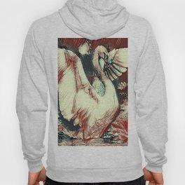 WHITE SWAN BROWNS & GREY  MODERN ART DESIGN Hoody