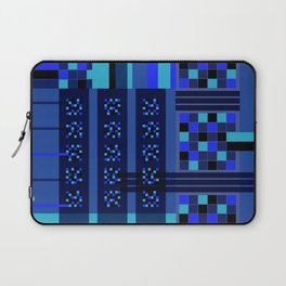 Movimiento de cuadritos azules · Glojag Laptop Sleeve