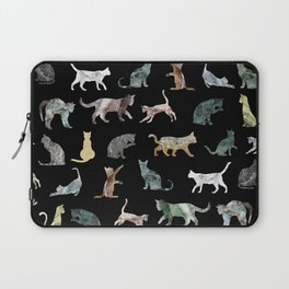 Cats shaped Marble - Black Laptop Sleeve