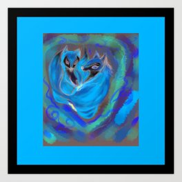 fox heart ,  cardiac Art Print