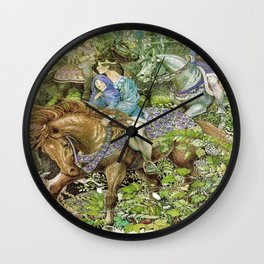 """""""Royal Party"""" by Susan Jeffers  Wall Clock"""