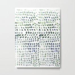 Flowing dots Metal Print