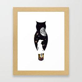 GIRL IN SPACE Framed Art Print