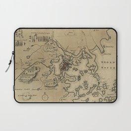 Vintage Boston Revolutionary War Map (1775) Laptop Sleeve