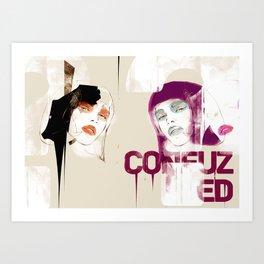 ?CONFUZED Art Print