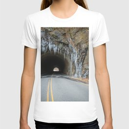Icy Tunnel Pass If You Dare T-shirt