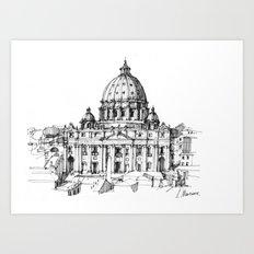 Basilica di S. Pietro a Roma Art Print