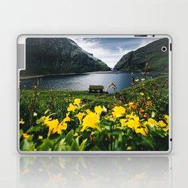 Cabin in Saksun - Faroe Islands Laptop & iPad Skin
