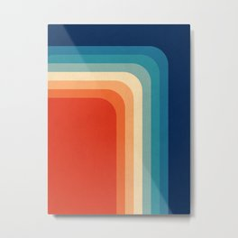 Retro 70s Color Palette III Metal Print