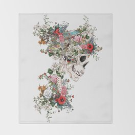 Skull Queen Throw Blanket