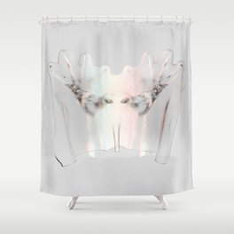 Splitting Hairs Shower Curtain