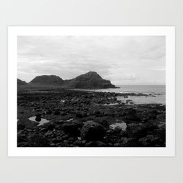 Giant's Causeway Black & White Art Print
