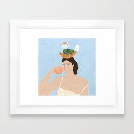 Another Breakfast Totem Framed Art Print
