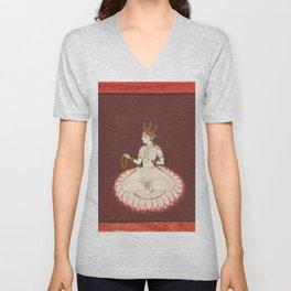 Goddess Saraswati, 17th Century Pantn Unisex V-Neck
