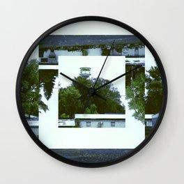 Decoy Geometry Overgrown Wall Clock